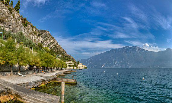Garda, Italy, Limone, Vacations, Tourism, Landscape
