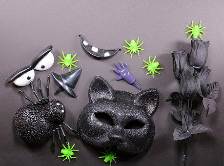 Halloween, Black, Gothic, Witch, Fantasy, Cat, Horror