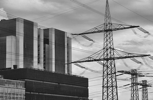 Power Plant, Current, Energy, Industry, Factory