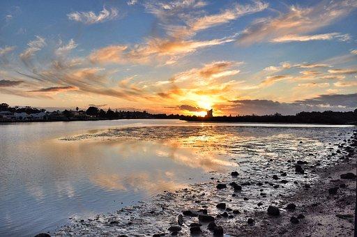Bunbury, Sunset, West, Landscape, Sun, Nature, Summer