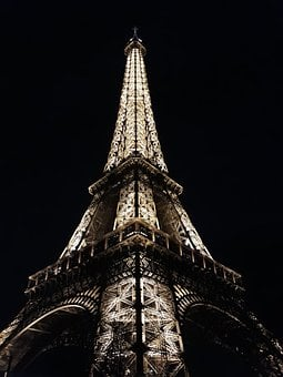 Paris, France, Eiffel, Tower, City, Lights, Night