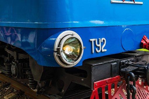 Locomotive, Diesel Locomotive, Light, Large, Train