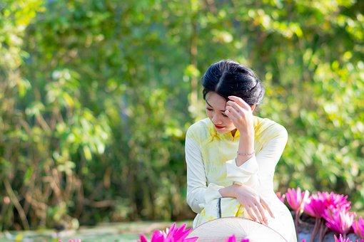 Girl, Cute, Gun Rose, Gun Flower, Portrait, Lonely