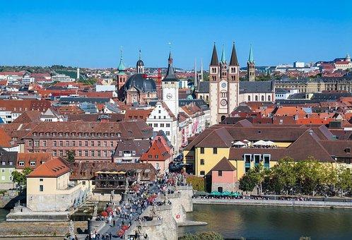 Würzburg, Main Bridge, Main, Historic Center, Cityscape