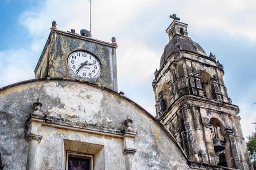 Mexico, Morelos, Tepoztlan, Church, Old, Culture, Sky