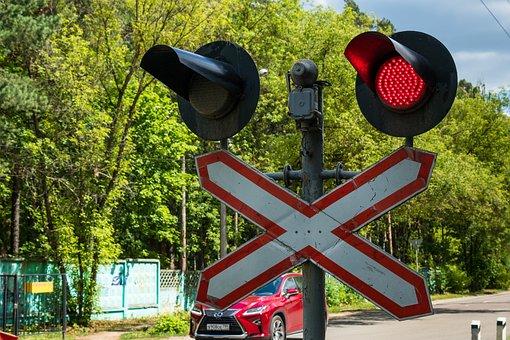 Railway, Traffic, Moving, Red, Forbidding Signal