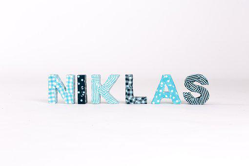 Letters, First Name, Boy, Niklas, Guys Name