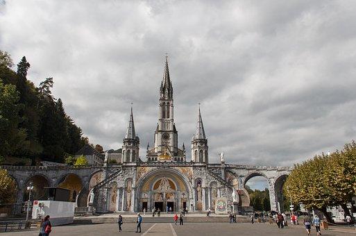 Pilgrimage Church, Lourdes, France, City, Place