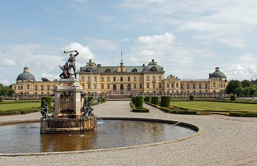 Castle, Drottningholm, Stockholm, Sweden, City, Port
