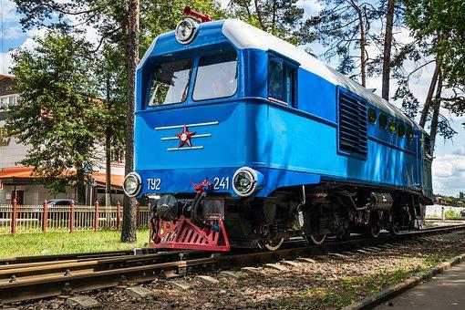 Locomotive, Diesel Locomotive, Train, Rails, Maneuvers