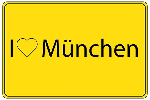 Munich, Bavaria, State Capital, Place, Town Sign
