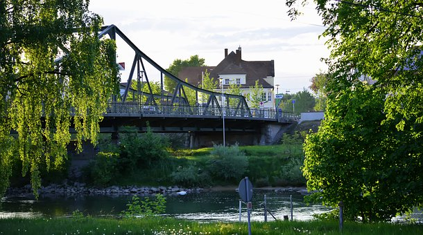 City, Bridge, Nature, River, Water, Trees, Germany