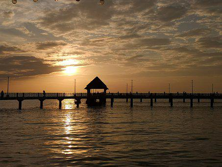 Sunset, Thailand, Sea Landscape, Nature, Glow, Twilight