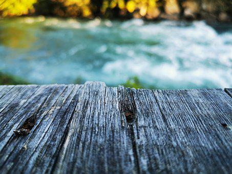 River, Web, Blue, Turquoise, Wood, Grey, Nature