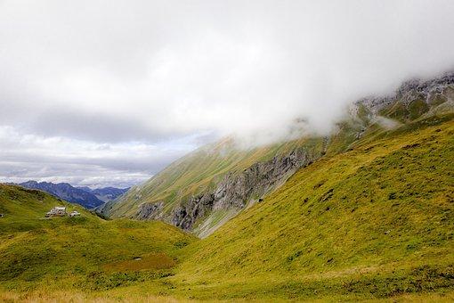 Allgäu, Mountains, Hike, Autumn, Sun, Clouds, Weather