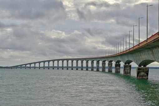 Bridge, Ile, Re, Of, Landscape, Island, Ocean, Atlantic