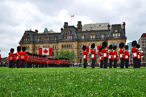 Canada, Ottawa, Ceremonial Guard, Changing Of The Guard