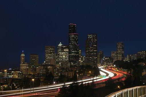 Seattle, Washington, Skyline, Cityscape, City, Downtown