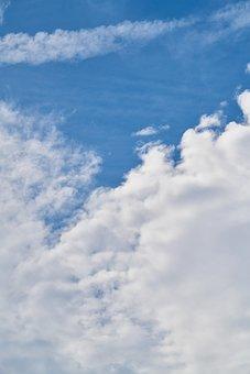 Cloud, White, Blue, Sky, Clouds, Air, Nature, Landscape