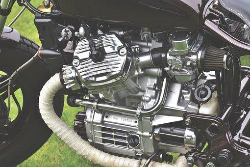 Motorcycle, Custom Bike, Machine, Motor, Cylinder