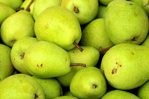 Pears, Pear, Fruit, Green, Food, Mature, Healthy, Eat