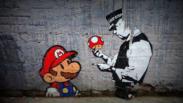 Mario, Street, Art, Artistic, Paint, Design, Graffiti