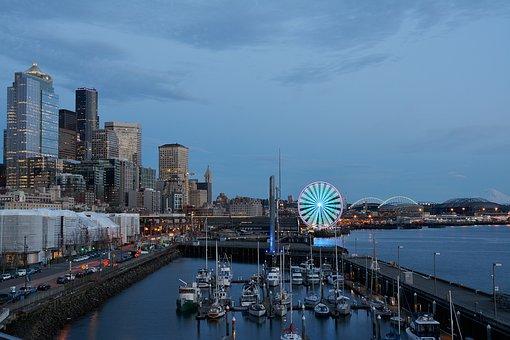Seattle, Pnw, Puget Sound, Great Wheel Seattle