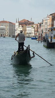 Venice, Italy, Gondolier, Gondola, Canal Grande, Travel