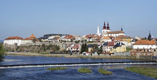 Czech Republic, Kadaň, Bohemia, Panorama