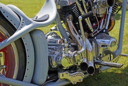 Motorcycle, Bike, Engine, Biker, Chrome, Chopper