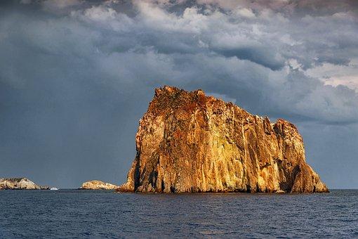 Aeolian Islands, Sicily, Landscape, Nature, Sky, Water
