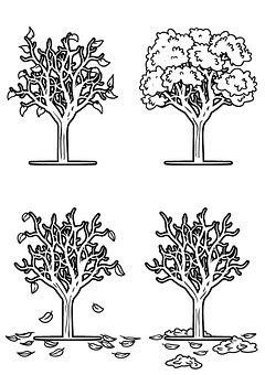Drawing, Tree, Seasons, Nature, Design, Plant, Romantic