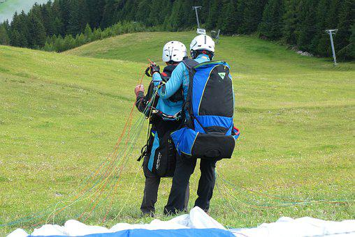 Tandem Jump, Paragliding, Sports, Adventure, Skydiving
