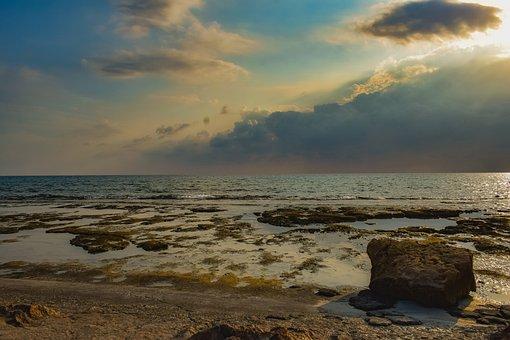 Autumn, Season, Nature, Rocky Coast, Sea, Sky, Clouds
