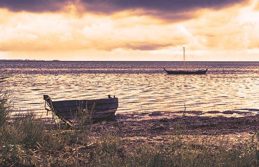 Boat, Rowing Boat, Sailing Boat, Beach, Water, Sea