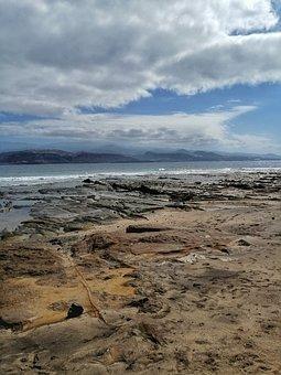 Beach, Sand, Clouds, Sky, Sea, Ocean, Water, Nature