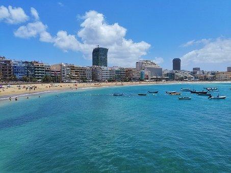Landscape, Blue, Ocean, Sky, Sea, Summer, Transparent