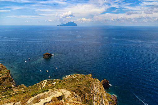 Sicily, Aeolian Islands, Sea, Nature, Sky, Water