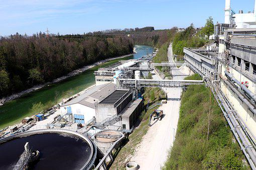 Sewage Plant, Wastewater, Sewage Treatment Plant
