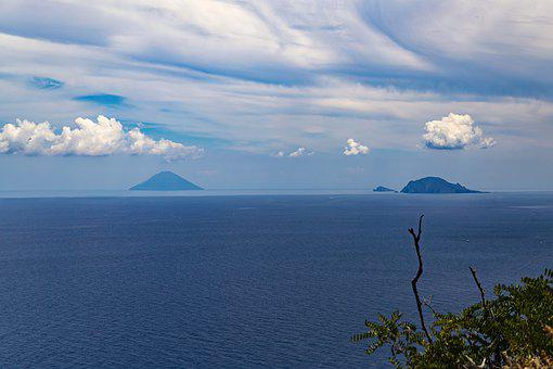 Aeolian Islands, Sicily, Landscape, Italy, Nature, Sky