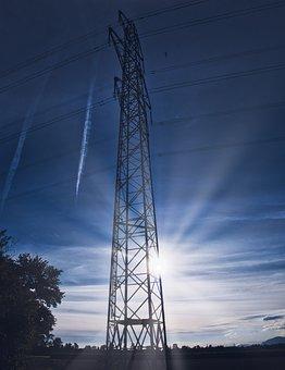 Energy, Sun, Mast, Current, Sky, Sunlight, Clouds