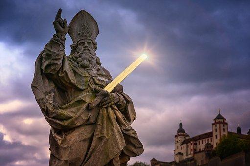 Religion, Apostle, Statue, Threatening, Christianity