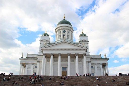 Church, White, Helsinki, Building, Finland