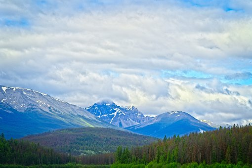 Mountains, Wilderness, Forest, Sky, Clouds, Majestic