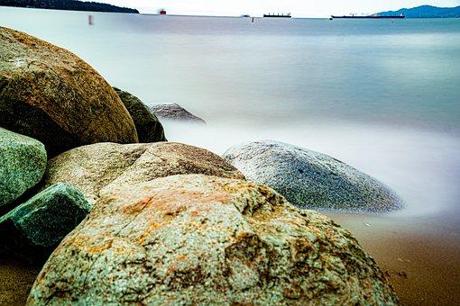 Colorful Rocks, Beach Rocks, Seashore, Resort