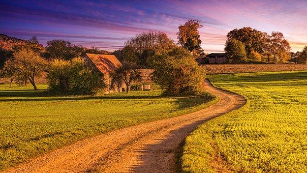 Away, Evening Light, Landscape, Abendstimmung, Trail