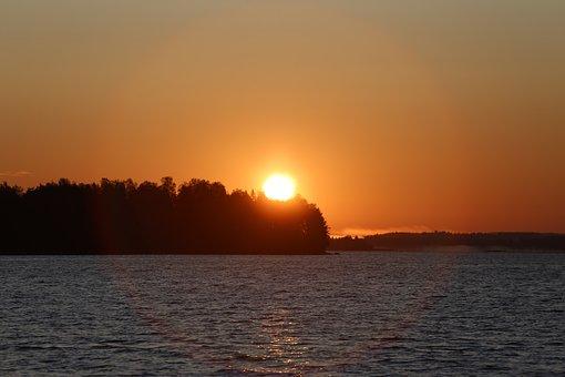 Finland, Landscape, Paint, Journey, Sky, Forest