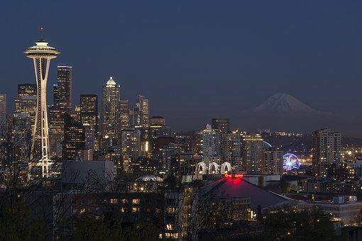 Seattle, Washington, City, Cityscape, Landscape