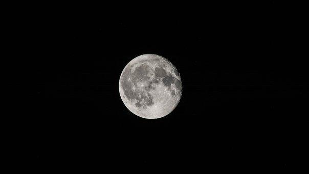Moon, Night, Dark, Night Sky, Photography, Astronomy