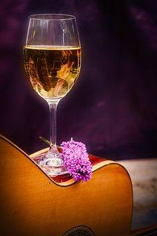 Wine, Wine Glass, Glass, Alcohol, Autumn, Drink, Music